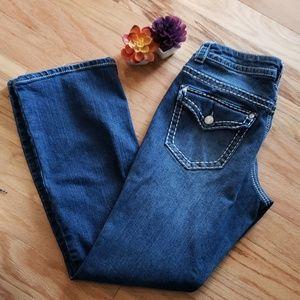 Sz 12 Paisley Sky Bootcut jeans